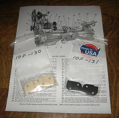 "Atlas/Craftsman 10"" 12"" Felt & Wipers 10F-130,10F-131,Manual Disc & OIL  USA"