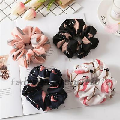 Lady Girls Hair Scrunchies Bun Ring Elastic Fashion Flamingos Scrunchie Donut