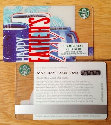 Starbucks 2018 Fathers Day 👔 gift card series 6153 US