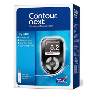 Contour Next Blood Glucose Monitoring System Easy To Use Kit Bayer Meter