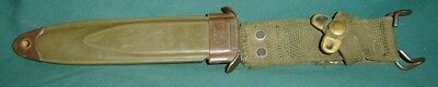 M8A1 SCABBARD (PWH) U.S. Military Vietnam Era For Bayonets SHEATH ONLY, CRACKED
