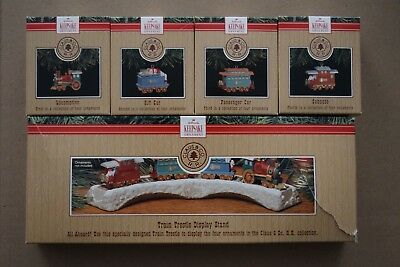 Hallmark 1991 The Claus & Co R.R. set of (5) ornaments in original boxes