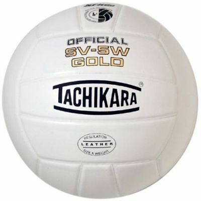 Tachikara Official NFHS SV-5W GOLD Premium Leather Volleyball
