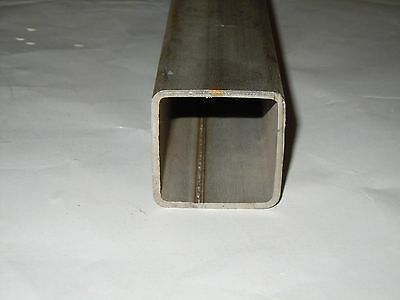 "Stainless Steel Square Pipe/Tubing 1.5""x 1.5"" x.120 x 12"" Gr316 Sold by the foot"