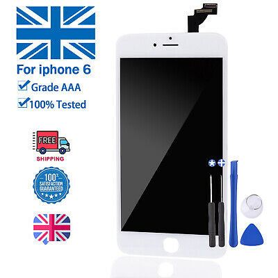 For iPhone 6 A1586 White Screen Replacement Digitizer LCD Touch - OEM Genuine IC