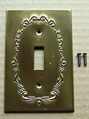 Brass Single Switch Plate With Screws