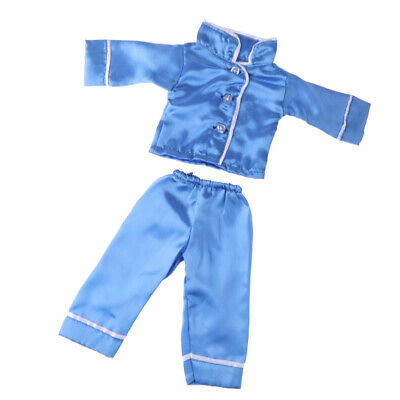 DIY Doll Clothes Two-piece Satin Pajamas for 18 inch American Girl Dolls