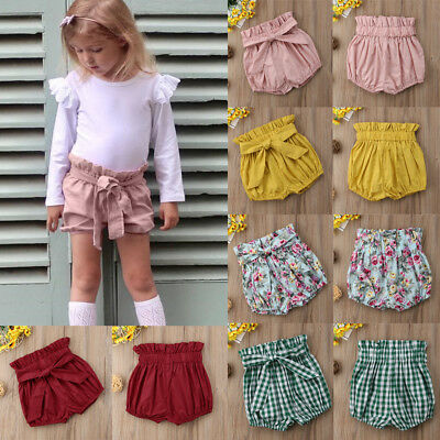Toddler Summer Baby Girl Boy Cotton Shorts PP Pants Nappy Diaper Covers Bloomers