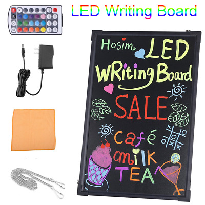 "32* 24"" Led Message Writing Drawing Board Menu Sign Board Neon Cafe Restaurant"