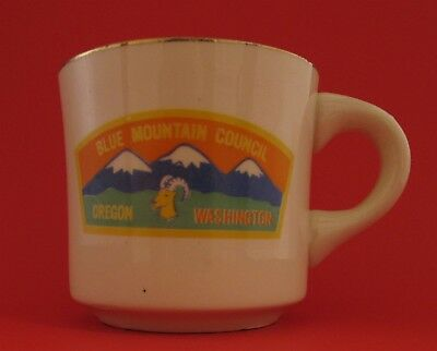 Vintage Blue Mountain Council Oregon Washington Boy Scouts Coffee Mug Cup