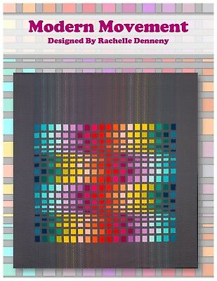 Modern Movement Quilt Pattern. Suitable Jelly Roll Quilt.