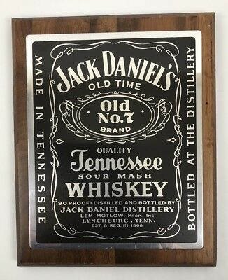 Jack Daniels Old No. 7 Wooden Plaque Sign Whiskey Distillery #G