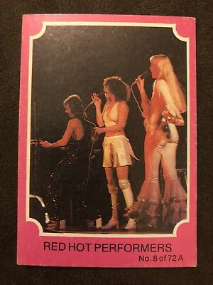 Scanlens 1976 Pink ABBA Card #8 Red Hot Performers