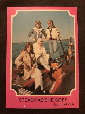 Scanlens 1976 Pink ABBA Card #10 Steady As She Goes