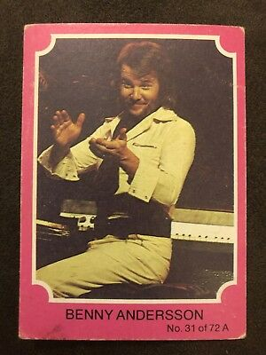 Scanlens 1976 Pink ABBA Card #31 Benny Andersson