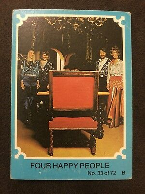 Scanlens 1976 Blue ABBA Card #33 Four Happy People