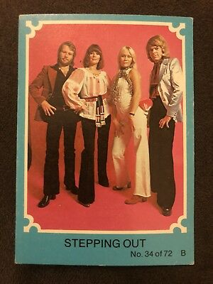 Scanlens 1976 Blue ABBA Card #34 Stepping Out