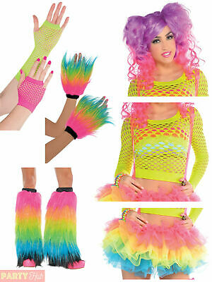 Ladies Electric Party Accessories Adults Neon 80s Fancy Dress Costume Accessory