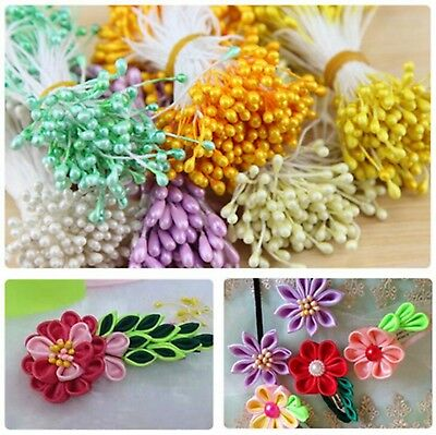 280 Stems of Pearlized Millinery Artificial Double-ended Stamen Flower Pip