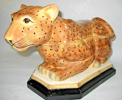 Raymond Waites Empire Collection Leopard Soup Tureen Rare Hard To Find Large See