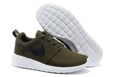 Scarpe Sportive Uomo Donna Nike Roshe Run Military Green