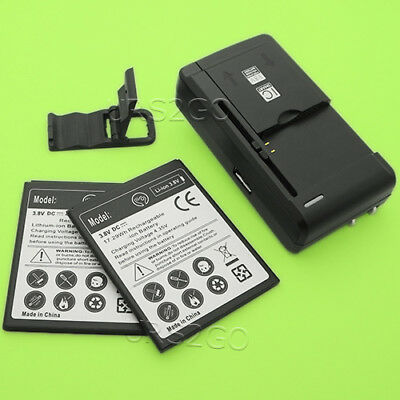 High Capacity 2x 2400mAh Battery Portable Charger Bracket for ZTE Fanfare 3 Z852