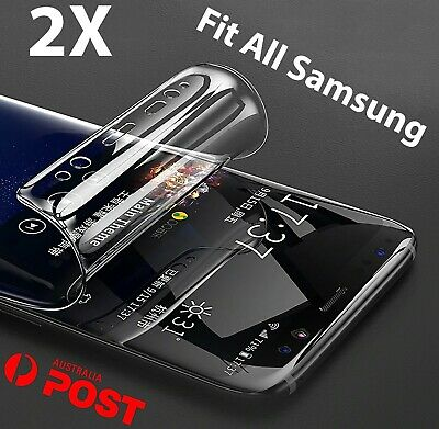 2x Hydrogel Screen Protector samsung Galaxy s10 S9 S8 Plus Note 9 8 10 s7 s2 s34