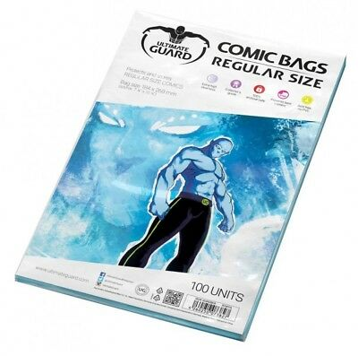 Ultimate Guard Pack 100 Pockets Comics Regular Size 184x268mm Comic Bags 73827