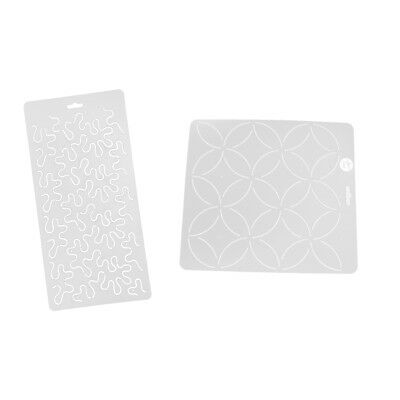 Prettyia 2Pcs Pattern Plastic Quilt Quilting Stencil Templates for Sewing