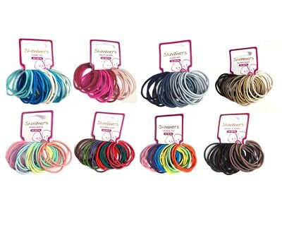 Shimmers -  24 Pack Premium Quality Long Lasting Elastic Hair Band Ties -8 Mixes