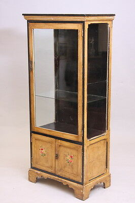 Antique Edwardian Painted Display cabinet