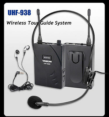 TAKSTAR UHF-938 Wireless Headset Tour Guide System Teaching Train 1T 12 Receiver