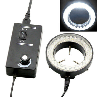 60-LED Adjustable Ring Light illuminator Lamp For STEREO ZOOM Microscope NICE