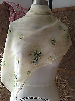 Vintage Silk Scarf 1930S 1950S Ripped