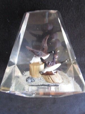 Canada geese in acrylic mold miniature collectible birds