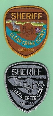 CLEAR CREEK COUNTY COLORADO CO subdued green SHERIFF POLICE PATCH