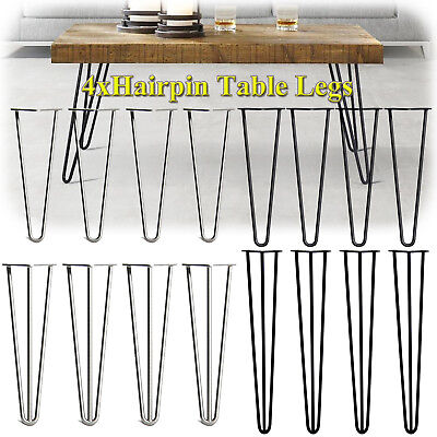 4x Premium Hairpin Table Legs Metal With Easy to install , UK Local Fast Ship
