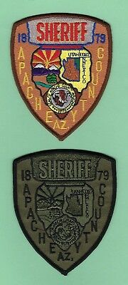 APACHE COUNTY SHERIFF's OFFICE PATCH SET ~ ARIZONA ~ VERY NICE COLLECTOR's SET
