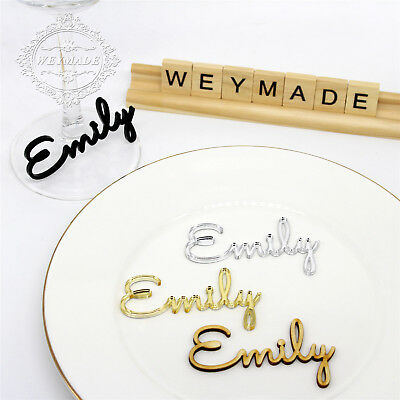 Personalized Laser Cut Guest Name Place Name Setting Wedding Table Centerpieces