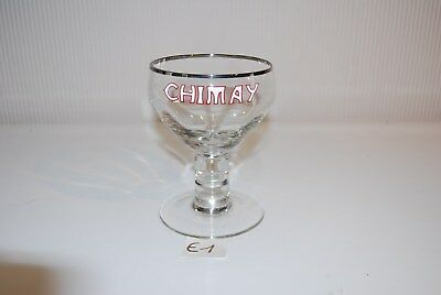 E1 Ancien verre Chimay EMAILLE !!! collector