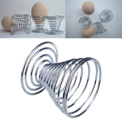 Stainless Steel Spring Wire Egg Holder Tray Useful Lovely Storage Stand Cup*