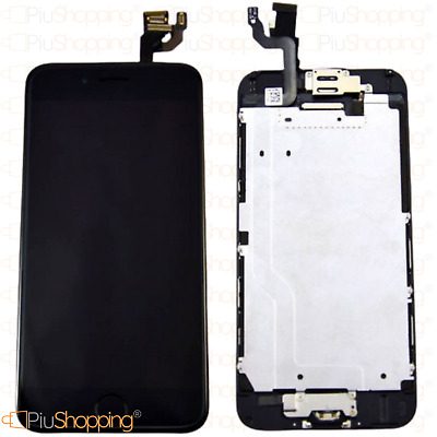 Display Iphone 6 Assemblato Completo Fotocamera Tasto Home Altoparlante Nero