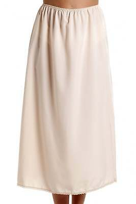 Camille Womens Ladies Beige 24'' Half Length Cling Resistant Under Skirt Slip