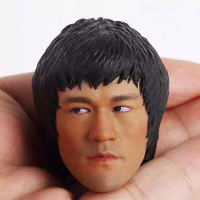 "Custom Bruce Lee 1/6 Male Head Sculpt For 12"" Phicen Figure Body Game of Death"