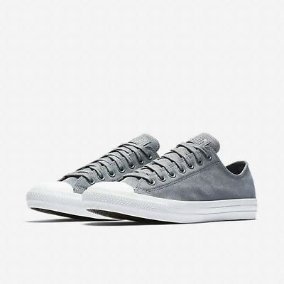 4d409aee384f Sale Converse Chuck Taylor All Star Low Suede Cool Grey White 157600C 039