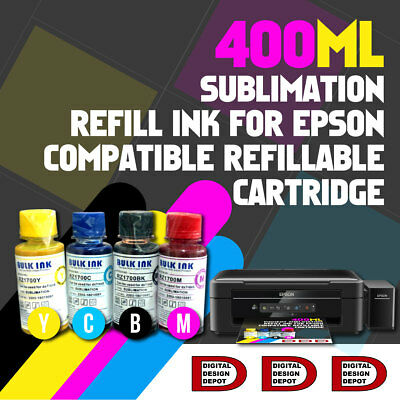 4 Color 100 ml Epson Printer Dye Sublimation Ink Heat Transfer dye sub ink
