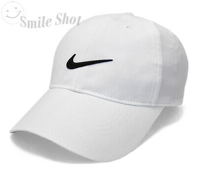9a7cf592ec9 New Nike Golf Legacy 91 Tech Golf Swoosh Cap Hat White   Black - 727042