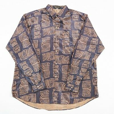 VGC Vintage Thai Silk Patterned Shirt | Men's XL | Retro Hawaiian Silky