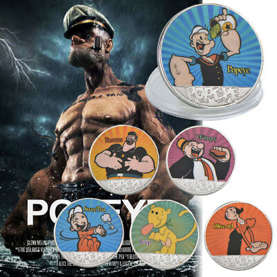 WR Sailor Man Popeye & Friends Silver Coin Set Classic Cartoon Character Collect