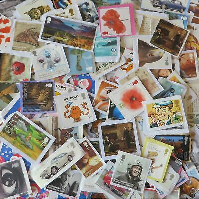 50 1st / 2nd Class LARGE Stamps Unfranked Off Paper *WITH ORIGINAL GUM*